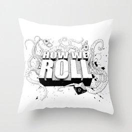 How We Roll Transparent Throw Pillow