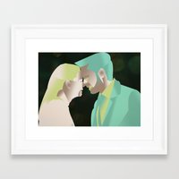 captain swan Framed Art Prints featuring Captain Swan S4 Finale by Christine Ring