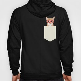 Ginger - Cute cat with glasses hipster cat art for dorm college decor funny cat lady meme Hoody