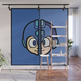 Old & New MegaMan Wall Mural