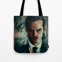 moriarty Tote Bags featuring Moriarty by Sirenphotos