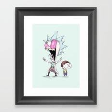 Zim & Morty Framed Art Print