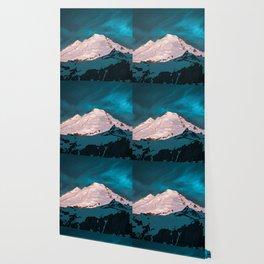 Mt Baker Blue Wallpaper