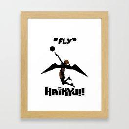 Karasuno Fly Framed Art Print