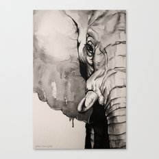 Watercolour Elephant Canvas Print