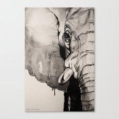 Watercolour Elephant Canvas Print