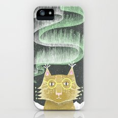 Lynx in Northern Lights iPhone SE Slim Case