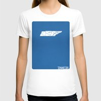 tennessee T-shirts featuring Tennessee Minimalist Vintage Map by Finlay McNevin
