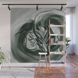 The One Wish Dragon Wall Mural