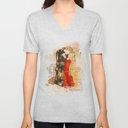 The Invention of the Kiss Unisex V-Neck