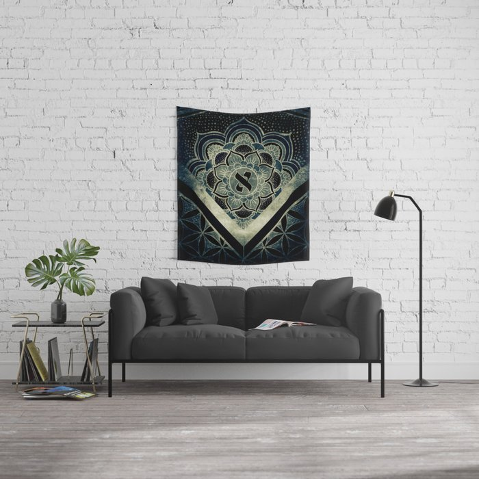 Sacred Geometry for your daily life - ESOTERIC ALEPH KYBALION EYE Wall Tapestry