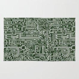 Circuit Board // Green & White Rug
