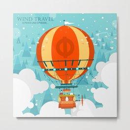 Wind Travel Metal Print