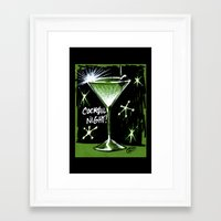 martini Framed Art Prints featuring Martini  by David Miley