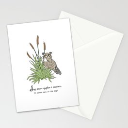Things Swedes Say - I Sense Owls in the Bog Stationery Cards