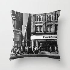 A walk down Oxford street Throw Pillow