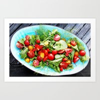 Red and green salad Art Print