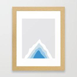 Inside the Iceberg Framed Art Print