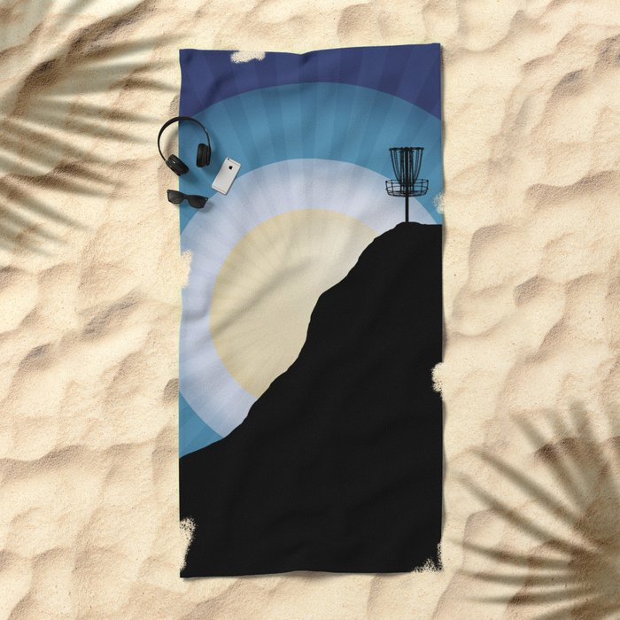 Basket On A Mountain Beach Towel