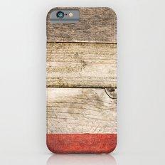 Wood, Wood, Red iPhone 6s Slim Case