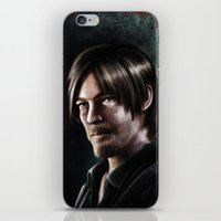 daryl dixon iPhone & iPod Skins featuring Daryl Dixon by Angelo Quintero