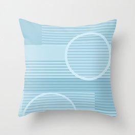 Geometric Minimal - Purist Blue Throw Pillow