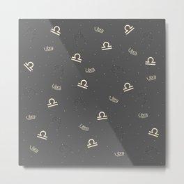 Libra Pattern Metal Print