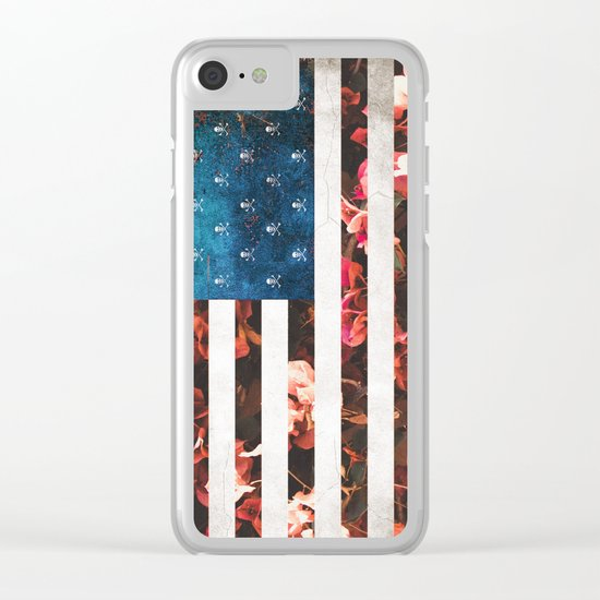 Skulls and Roses Clear iPhone Case