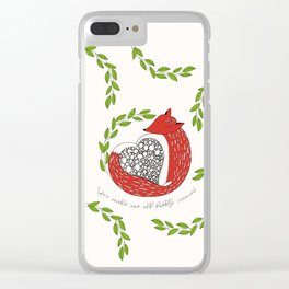 Foxy Love Clear iPhone Case