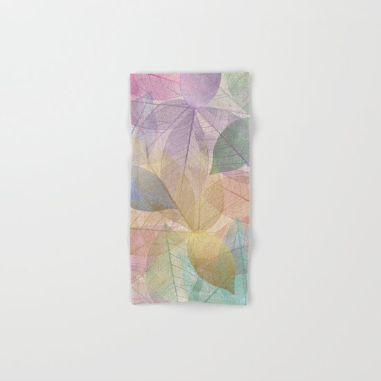 Colored Leaf Pattern Hand & Bath Towel