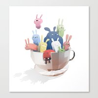 bunnies Canvas Prints featuring Bunnies by Reuno