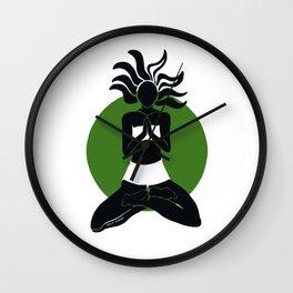 Yoga Goddess Wall Clock