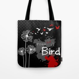 Trash Polka Dandelions Blow Into Birds Tote Bag