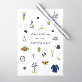 Start Each Day With a Grateful Heart - Cute things Wrapping Paper