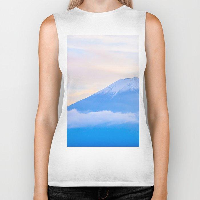 pastel mountain #sky Biker Tank