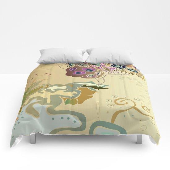 Beige reef Comforters