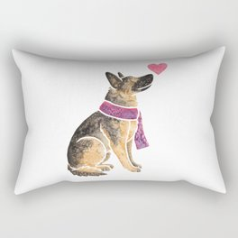 Watercolour German Shepherd Dog Rectangular Pillow