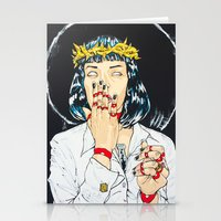 mia wallace Stationery Cards featuring Mother Mia (Mia Wallace) by Rob Regis | #ARTLORDXXX