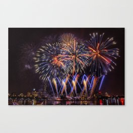 Blue Stars. Boston Pops Fireworks. Canvas Print