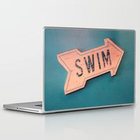swim Laptop & iPad Skins featuring swim by Sylvia Cook Photography