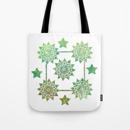 Green Mandalas Tote Bag