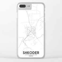 Minimal City Maps - Map Of Shkoder, Albania. Clear iPhone Case