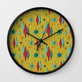 Retro Decorations in Red Wall Clock
