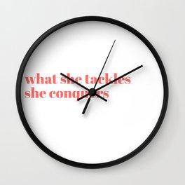 what she tackles Wall Clock