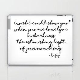 The astonishing light of your own being - Hafiz Laptop & iPad Skin