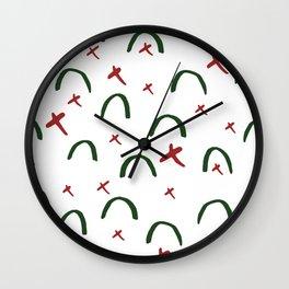 Modern Christmas Pattern Print Design Wall Clock