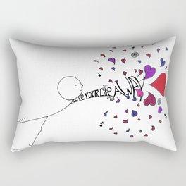 Give Your Life Away Rectangular Pillow