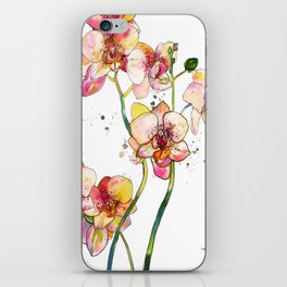 Pink Orchids iPhone Skin