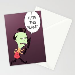I HATE THIS PLANET Stationery Cards
