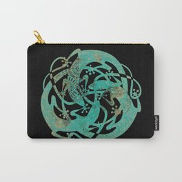 Lizards Mandala - Turquoise gold Carry-All Pouch